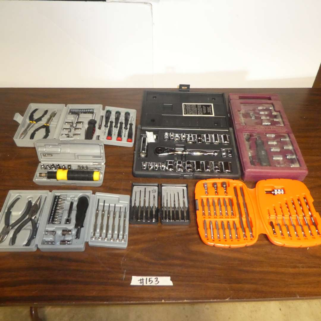 Lot # 153 - Assortment of Tool Sets (Pieces Not Counted) (main image)