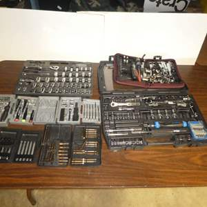Lot # 154 -Assortment of Tool Sets (Pieces Not Counted)