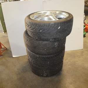 """Lot # 69 - Four """"America Racing"""" 17in Rims w/ Tires"""