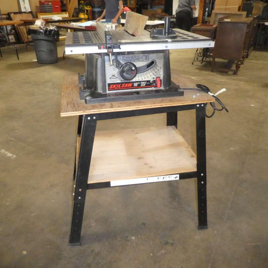 "Lot # 71 - Skil Saw 10"" Table Saw on Stand (main image)"