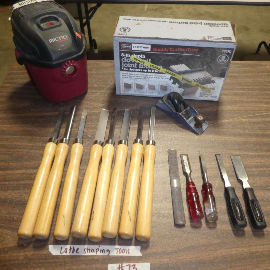 Lot # 73 - Craftsman Dovetail Fixture Kit & Lathe Shaping Tools (main image)