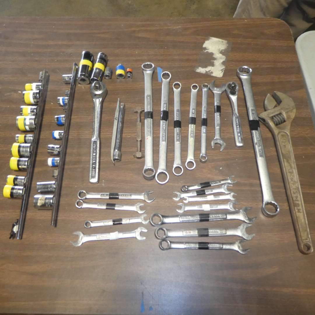 Lot # 76 - Craftsman Tool Lot - Assorted Wrenches & Sockets  (main image)
