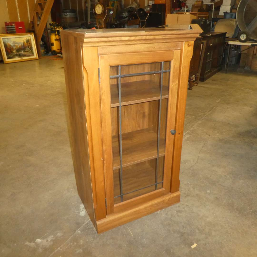 Lot # 79 - Cute Accent Storage/Media Cabinet  (main image)