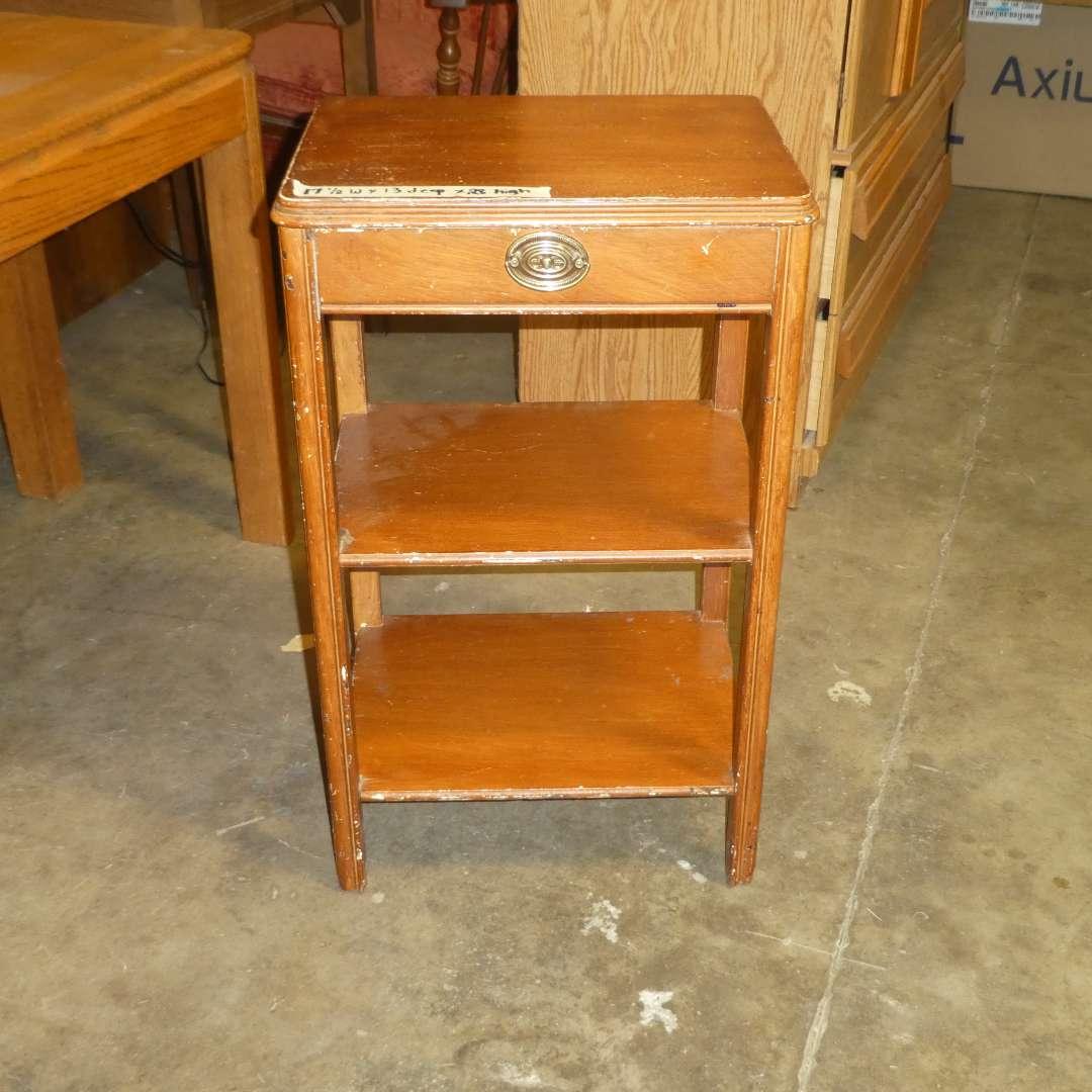 Lot # 91 - Vintage Side Table w/ Drawer (main image)