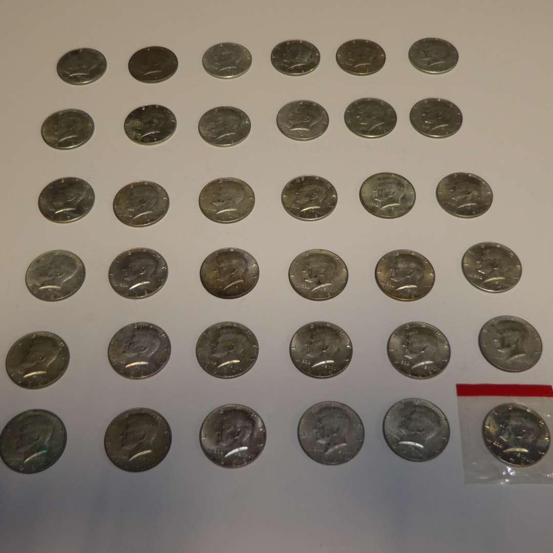 Lot # 302 - 36 Silver Half Dollars (40% Silver) (main image)