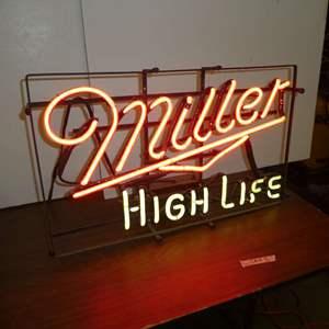 Lot # 313 - Vintage Miller High Life Neon Sign