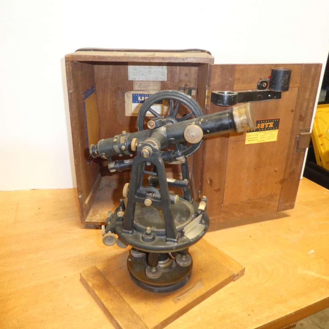 Lot # 315 - Antique/ Vintage Lietz Surveyors Transit  (main image)