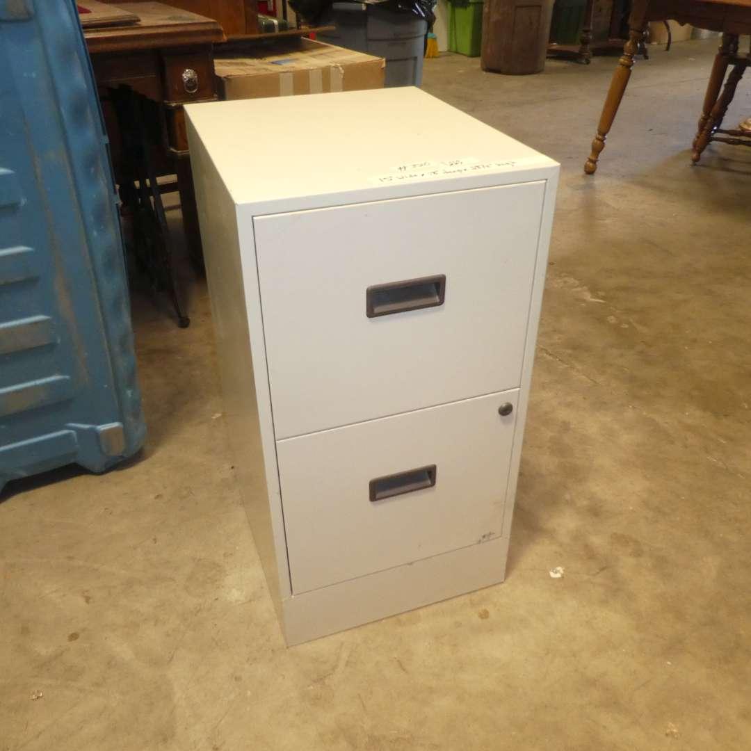 Lot # 320 - Two Drawer Metal Filing Cabinet  (main image)