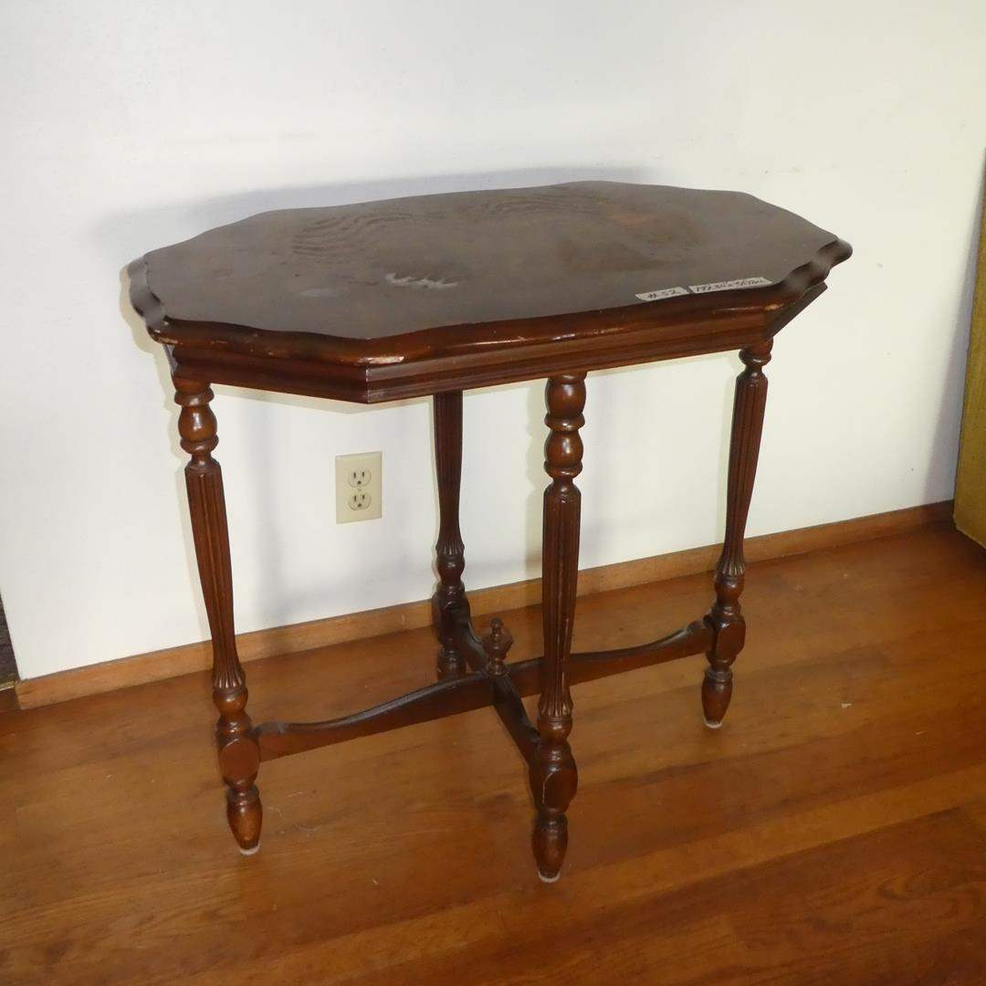 Lot # 52 - Vintage Wooden Accent Table (main image)