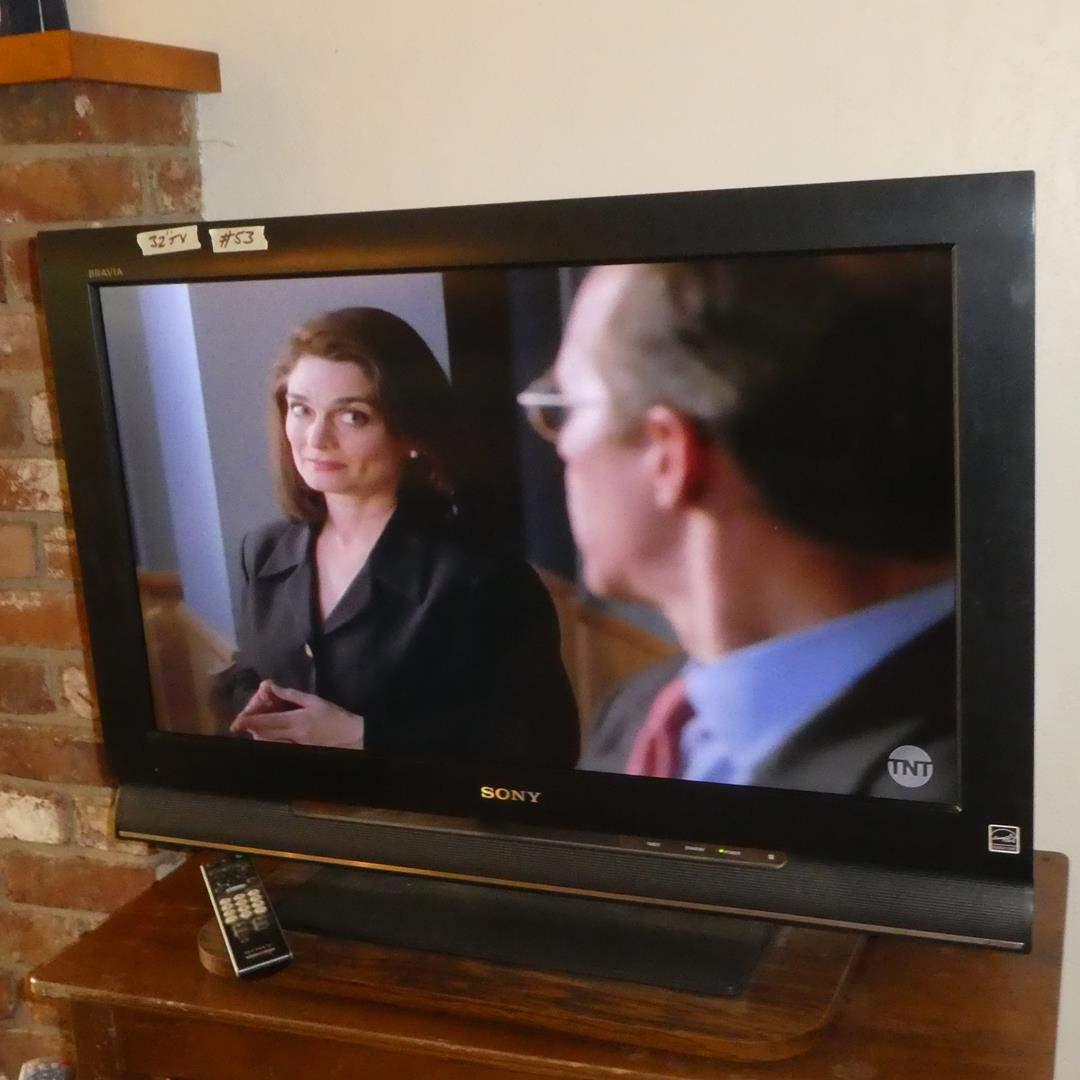 "Lot # 53 - Sony Bravia 32"" LCD Digital Color TV w/Remote (main image)"