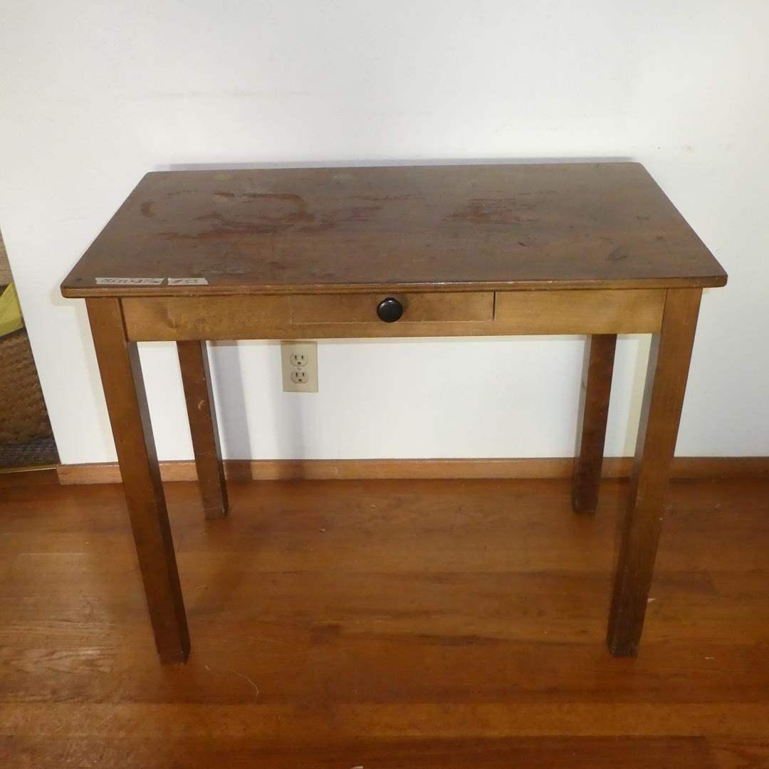 Lot # 55 - Vintage Wooden Children's Desk w/Drawer (main image)