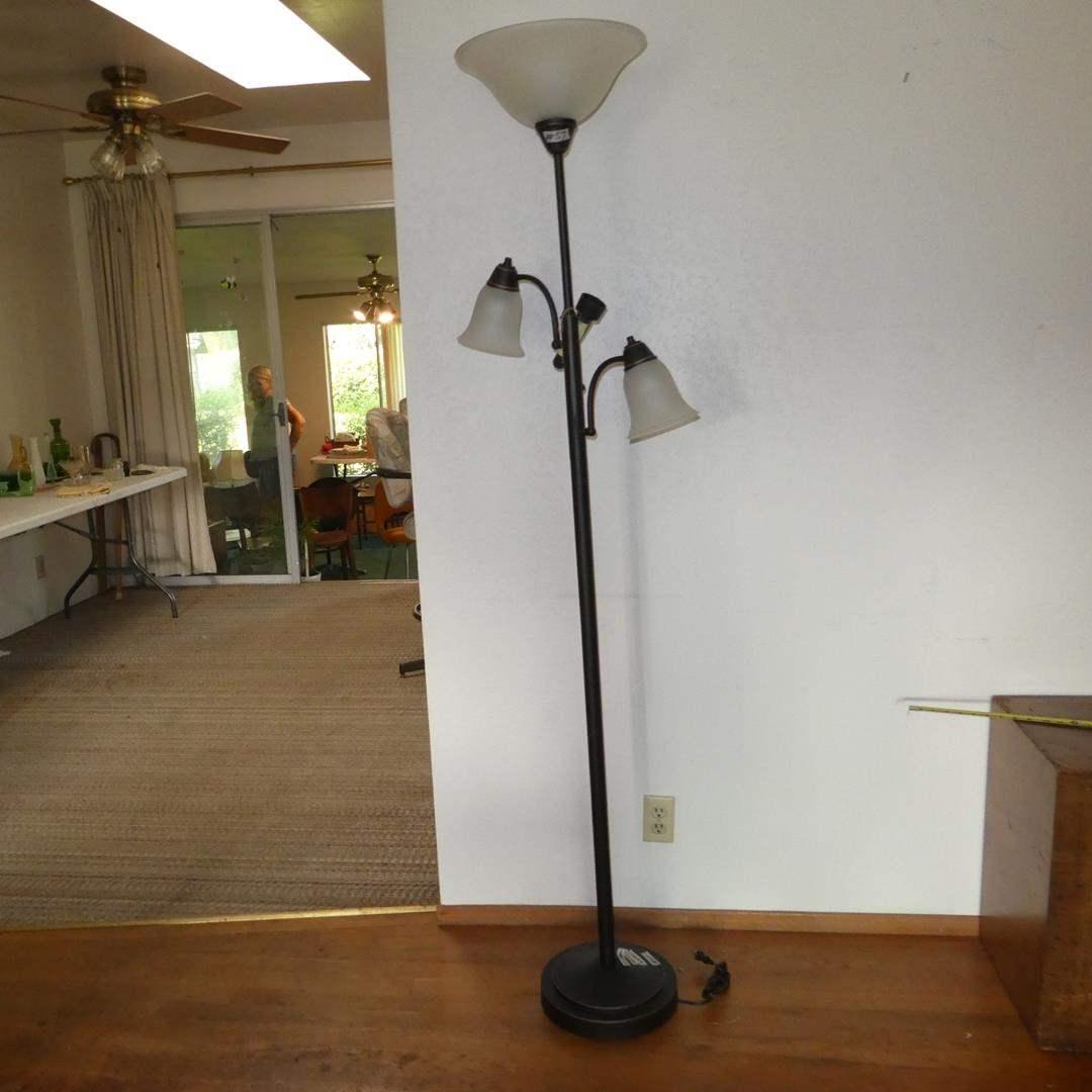 Lot # 57 - Three Light Metal Floor Lamp (main image)