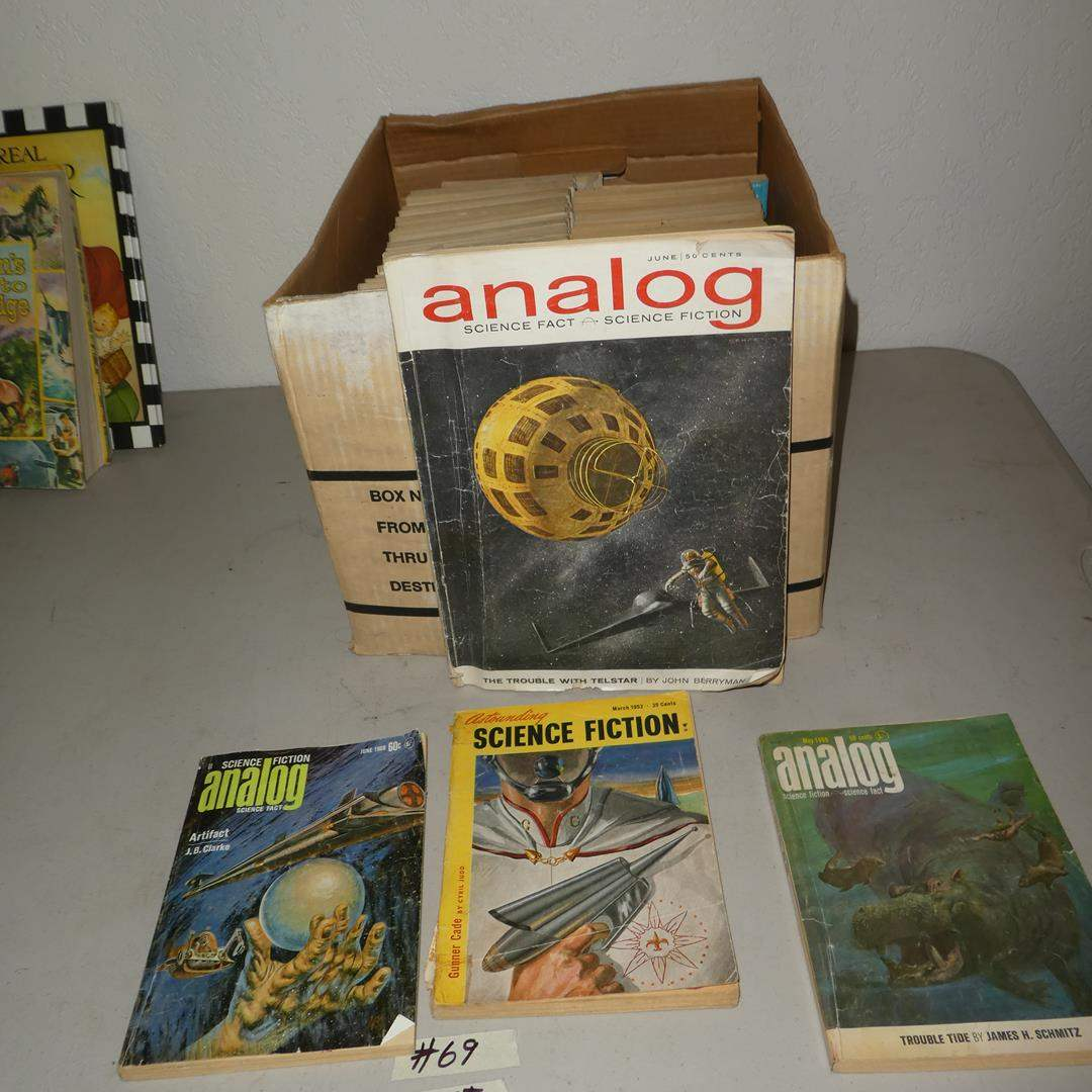 Lot # 69 - 65+ Vintage Science Fiction Analog Magazines (main image)