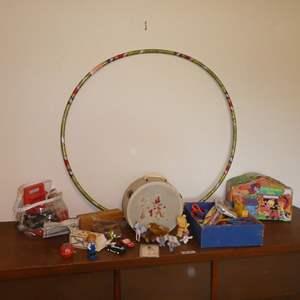 Lot # 76 - Vintage Children's Toys & Craft Supplies
