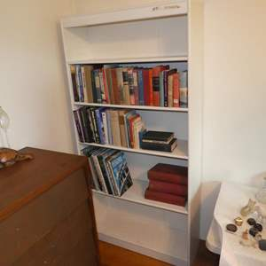 Lot # 81 - Bookshelf & Books (Some First Editions)