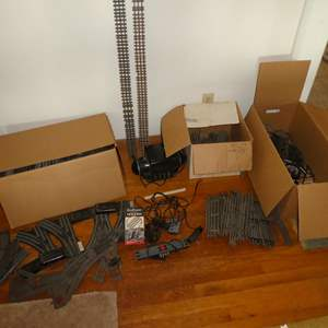 Lot # 82 - Vintage O Gauge Transformer, Track & Switches (75 Straight Pieces of Track & 65 Curved Pieces)