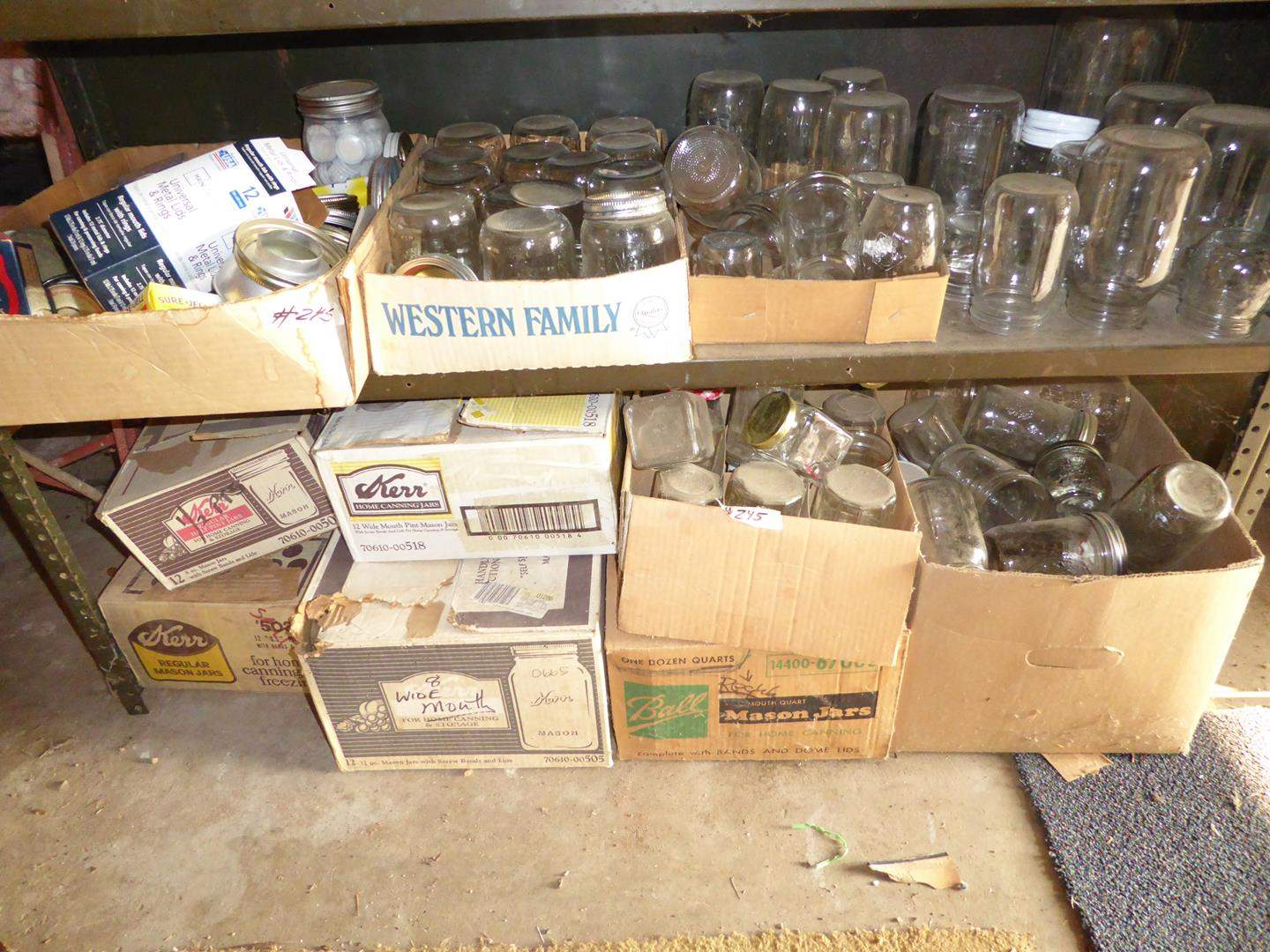 Lot # 245 - Assorted Canning Jars (main image)