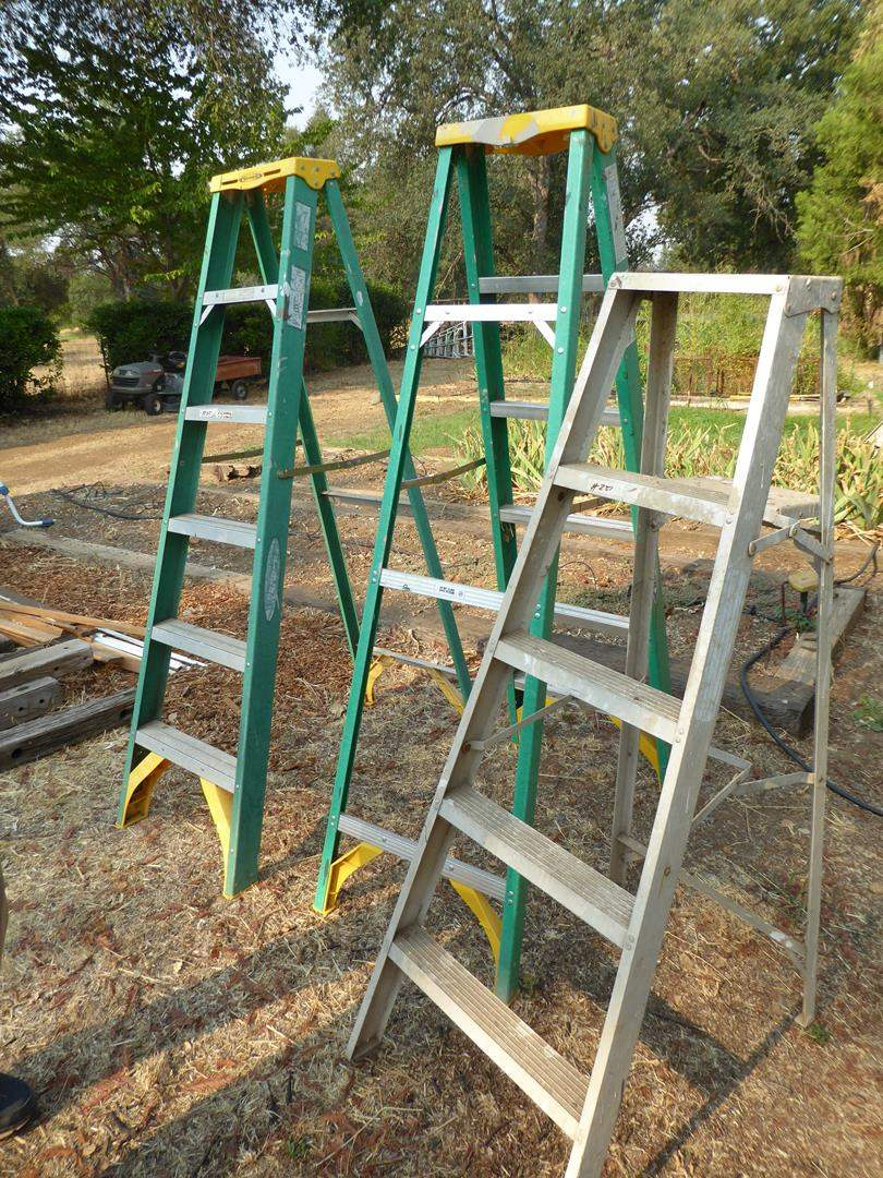 Lot # 251 - Three Ladders - Two 6' & One 5'  (main image)