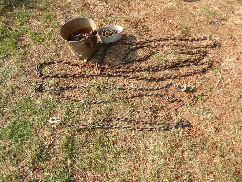 Lot # 254 - Old Bucket & Chain Hooks (main image)