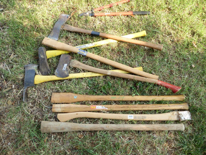 Lot # 261 - Axes & Extra Wood Handles (main image)