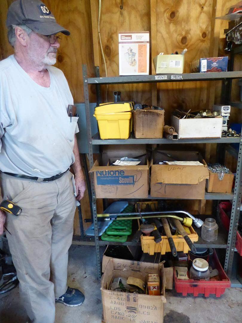 Lot # 267 - Sheep Shearing Gear & Hardware - Shelf Not Included (main image)
