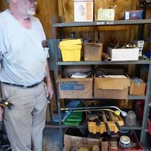 Lot # 267 - Sheep Shearing Gear & Hardware - Shelf Not Included