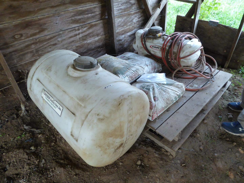 Lot # 272 - Garden Sprayer & 50 Gallon Agricultural Tank (main image)