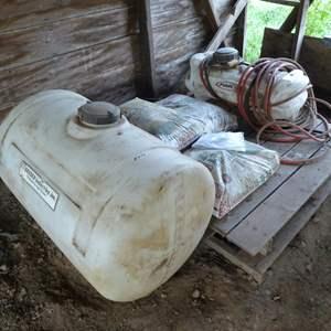 Lot # 272 - Garden Sprayer & 50 Gallon Agricultural Tank