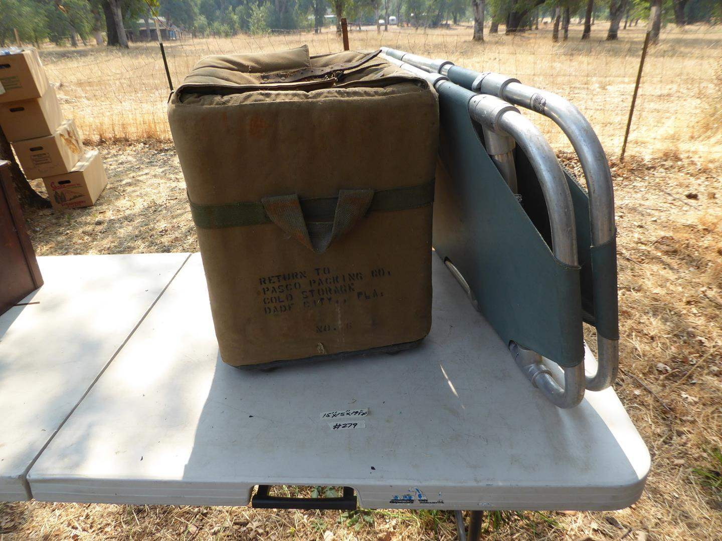 Lot # 279 - Vintage Military Ice Chest & Stretcher  (main image)