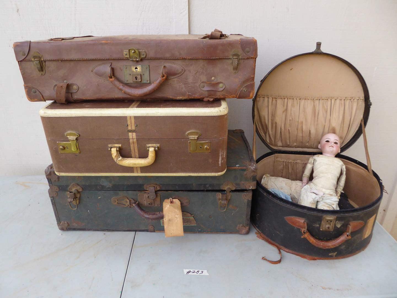 Lot # 283 - Antique Doll & Cases (main image)