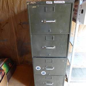 Lot # 285 - Metal 4 Drawer Filing Cabinet