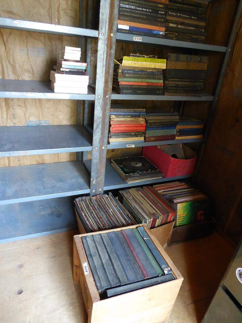Lot # 288 - Vintage Records Lot 33's & 78's - Shelf Not Included (main image)