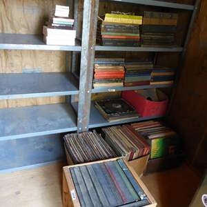 Lot # 288 - Vintage Records Lot 33's & 78's - Shelf Not Included