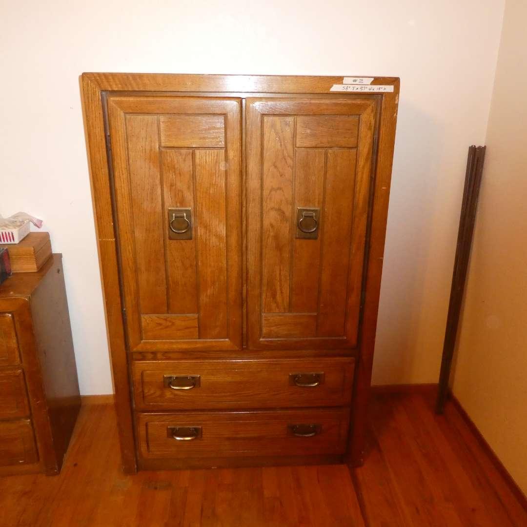 Lot # 2 -  Armoire Style Dresser (main image)