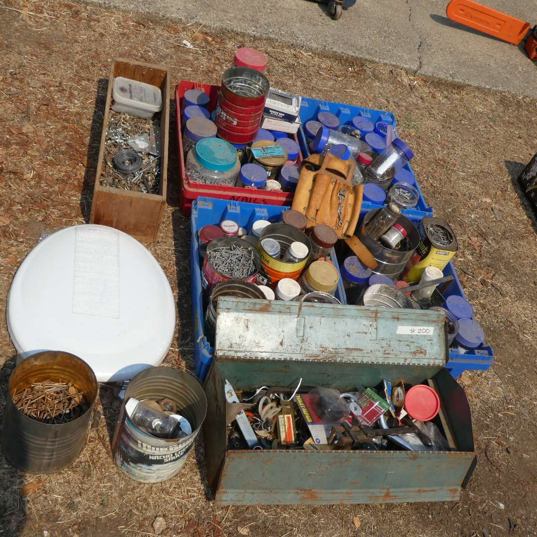 Lot # 200 - Various screws, nails, and other misc. (main image)