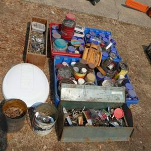 Lot # 200 - Various screws, nails, and other misc.