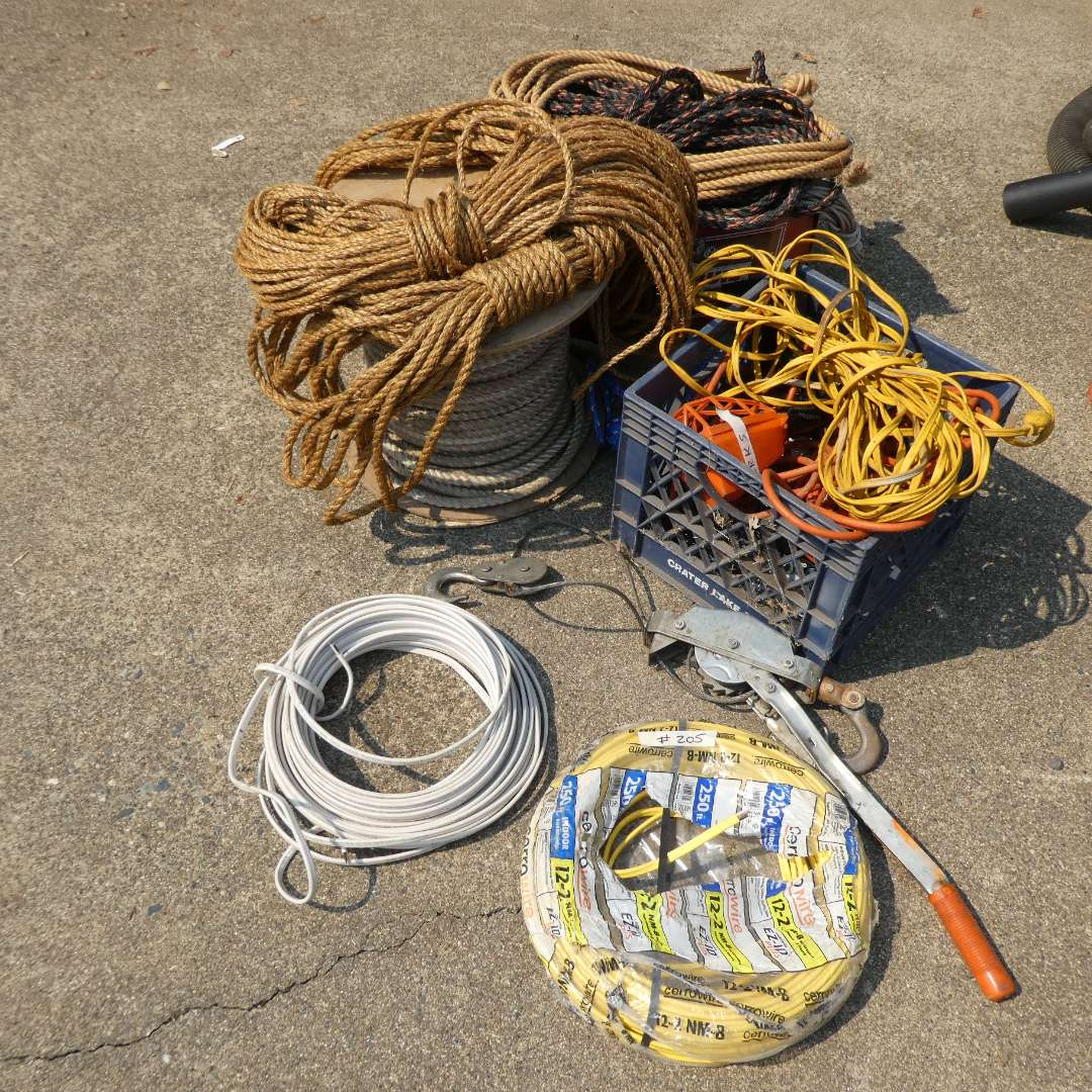 Lot # 205 - Rope & Extension Cords (main image)