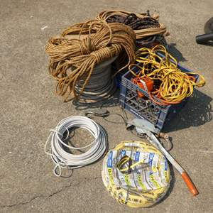Lot # 205 - Rope & Extension Cords