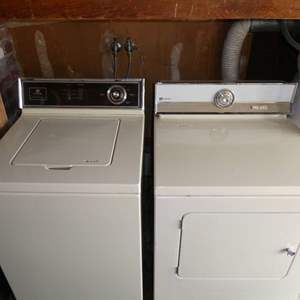Lot # 207 - Electric Maytag Washer And Dryer