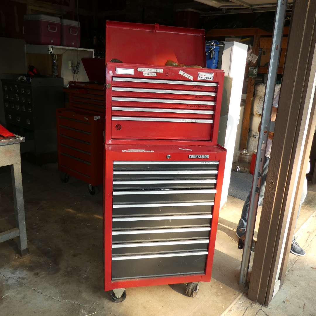 Lot # 210 - Large Craftsman Tool Chest Full Of Tools (main image)