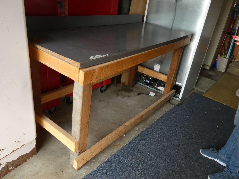 Lot # 215 - Homemade Work Table (main image)