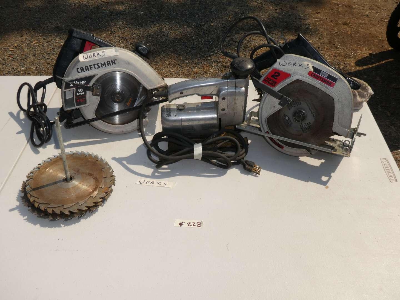 Lot # 228 - Craftsman Saws (main image)