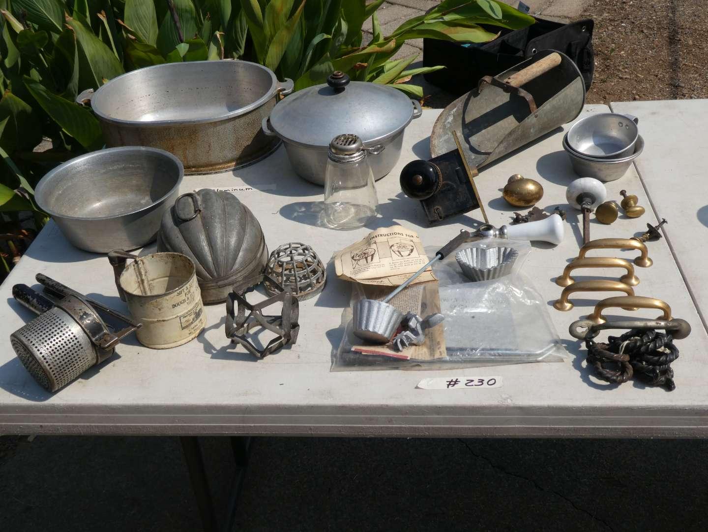 Lot # 230 - Vintage Kitchen Wares And Hardware (main image)