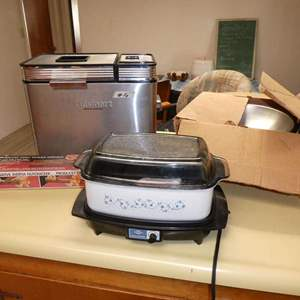 Lot # 16 - Bread Maker, Slow Cooker, Wok Cooking Pan, And A Nut Cracker