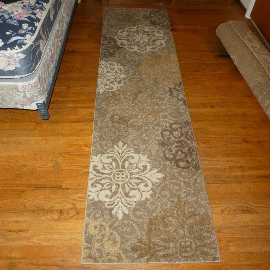 Lot # 95 - 'American Rug Craftsmen' Dark Beige Floor Rug Runner (main image)