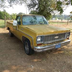 Lot # 103 - 1974 Chevy w/454 Engine - Runs -  Watch Video