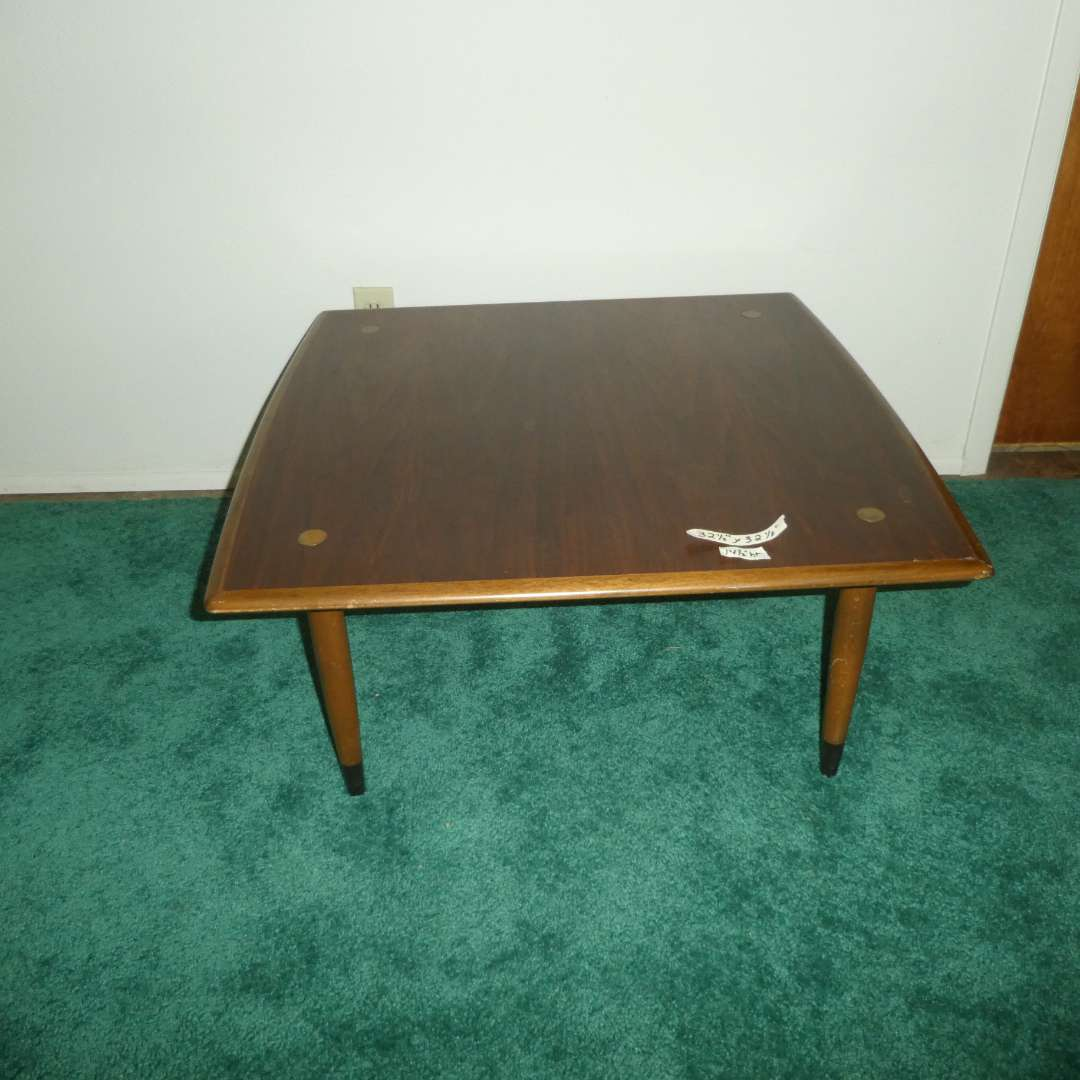 Lot # 159 - Dux of Sweden Teak Coffee Table with Brass Accents (main image)