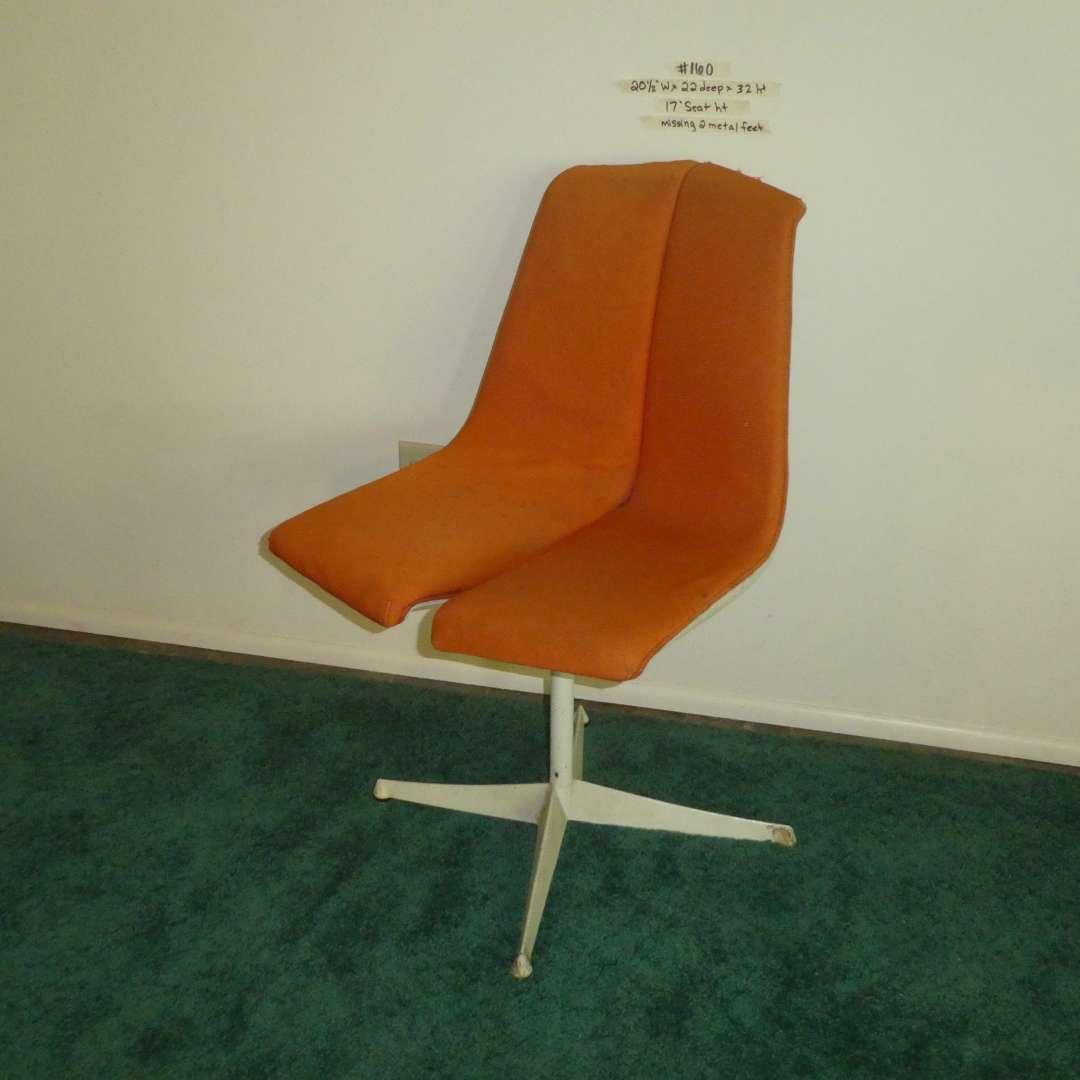 Lot # 160 - Mid Century 1960s Richard Schultz Knoll Associates Stackable Chair - Missing 2 Metal Feet  (main image)