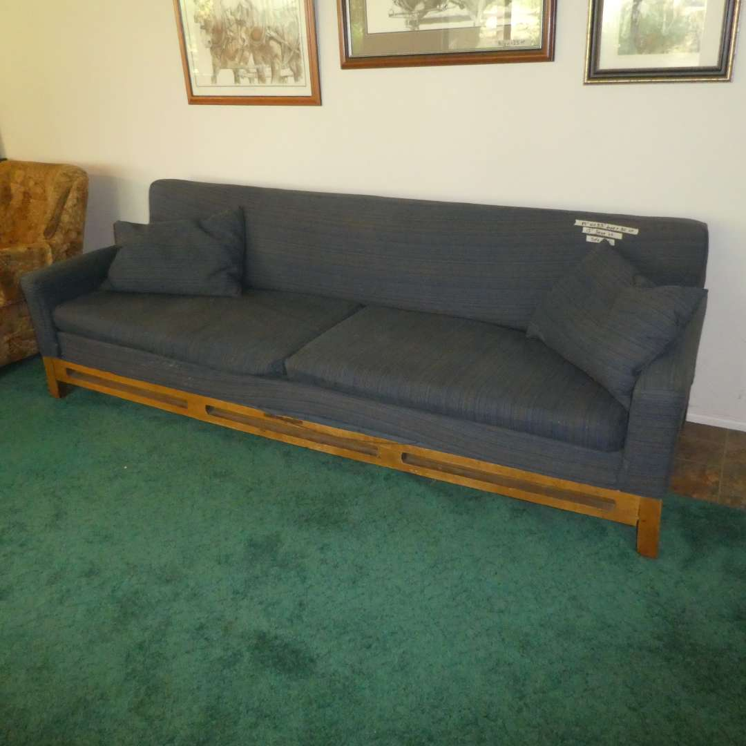Lot # 163 - Vintage Mid Century Modern Sofa Bed w/ Serta Mattress (Upholstery Needs To Be Repaired In Some Areas See All Photos) (main image)