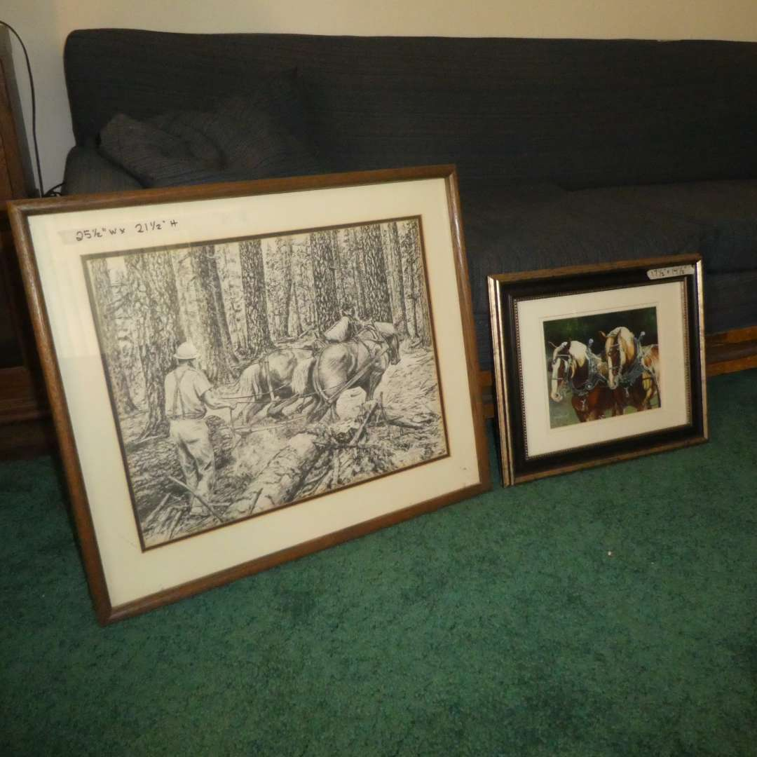 Lot # 170 -  Two Horse Prints By Tom Wolder and Doreen Irwin  (main image)